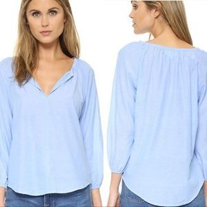 Anthro Velvet Esme Cotton Chambray Blouse Top
